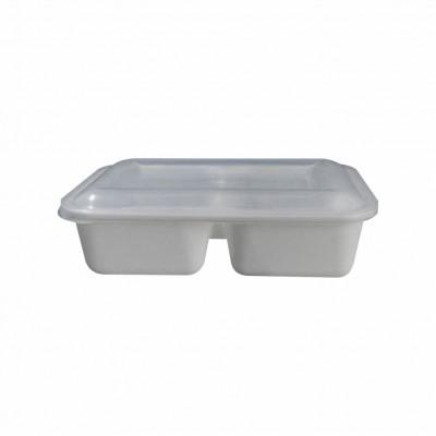 7605 - embalagem de plástico. 20x14x6cm 2 divisões freezer/micro 850ml Reflet 25un R041D (tampa 7606)