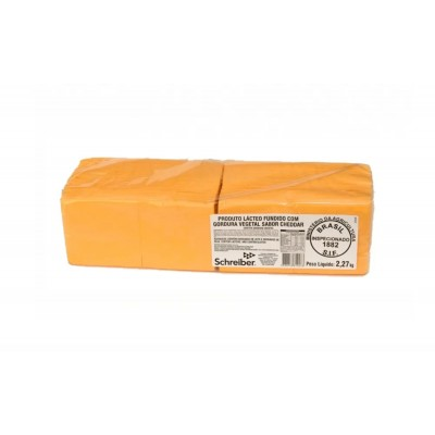 7717 - queijo cheddar fatiado Schreiber 2,270kg