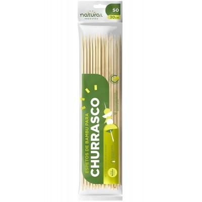 7751 - espeto de bambu Natural 30cm 50un