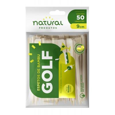 7756 - espeto de bambu tipo golf 9cm Natural 50un