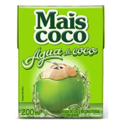 7764 - água de coco Mais Coco 24 x 200ml