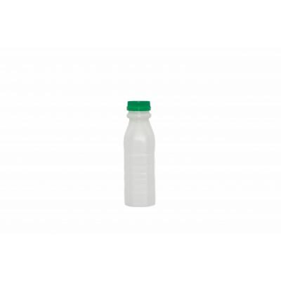 7765 - frasco 300ml quadrado com tampa verde com lacre Orien 100un