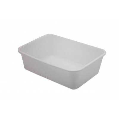 7769 - pote 1L branco retangular sem tampa freezer/micro Reflet 25un R042 (tampa 7601)