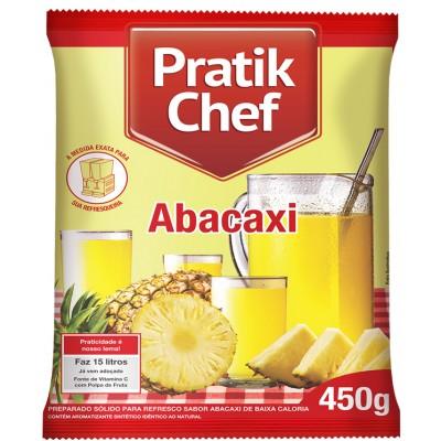 7771 - refresco abacaxi Pratik chef 450g rende 15lt