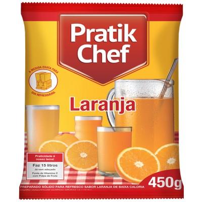 7772 - refresco laranja Pratik chef 450g rende 15lt