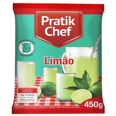 7773 - refresco limão Pratik chef 450g rende 15lt