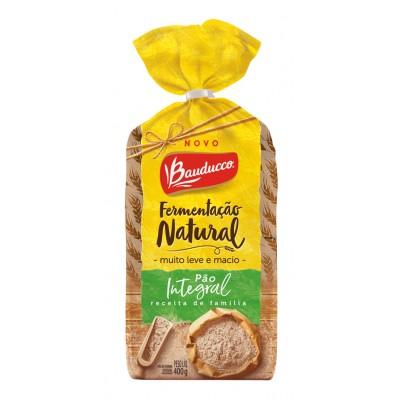 7836 - pão fatiado integral fermentação natural Bauducco 400g