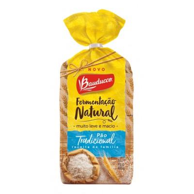 7837 - pão fatiado tradicional fermentação natural Bauducco 400g