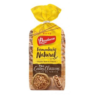 7838 - pão fatiado grãos clássicos fermentação natural Bauducco 400g