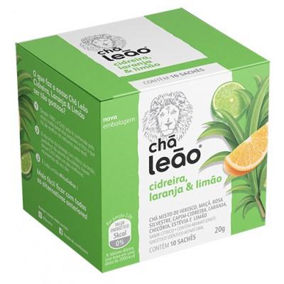 7868 - chá cidreira, laranja e limão Leão 10 envelopes