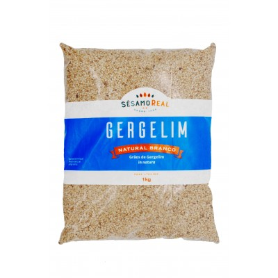 7897 - gergelim branco natural Sésamo Real 1kg