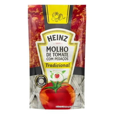 7904 - molho tomate tradicional Heinz sachê 340g