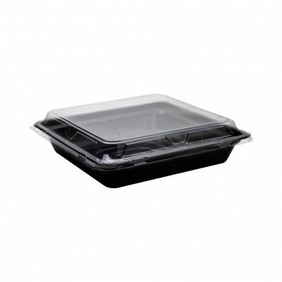7940 - embalagem oriental 2,03lt quadrada com tampa 27,3x27,3x4,8cm Dpcpack 100un dp05b