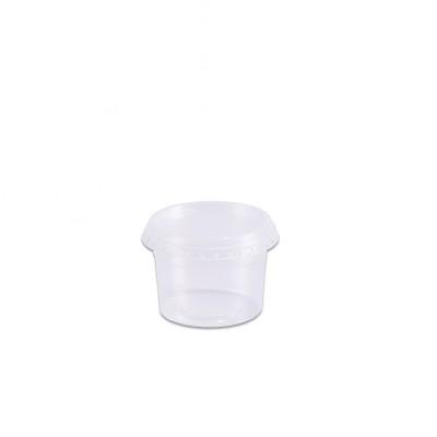 7960 - pote 145ml transparente redondo com tampa freezer/micro Prafesta 24un