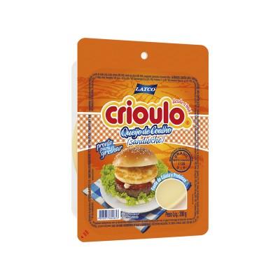 8013 - queijo coalho sanduiche 6 discos Crioulo 200g