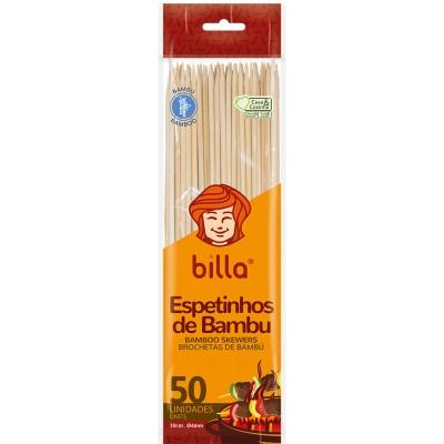 8109 - espeto de bambu Billa 30cm 4mm 50un