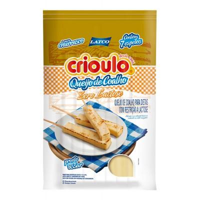 8120 - queijo coalho zero lactose Crioulo +/- 400g 7 espetos